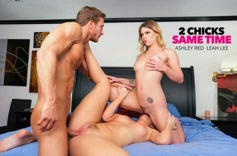 2 Chicks Same Time – Ashley Red, Leah Lee