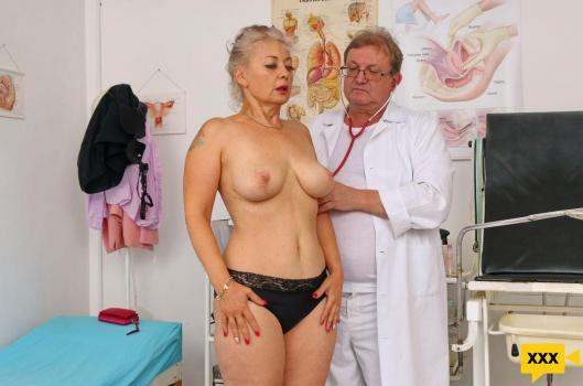 MatureGynoExam – Veronique – Dirty vaginal check-up of sexy busty GILF Veronique